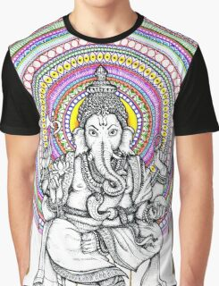 Lord Ganesh Mandala Graphic T-Shirt