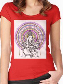 Lord Ganesh Mandala Women's Fitted Scoop T-Shirt