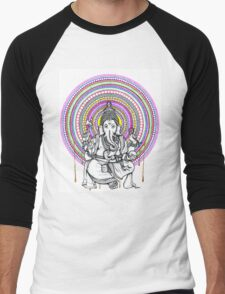Lord Ganesh Mandala Men's Baseball ¾ T-Shirt