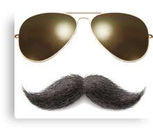 Easy Mustache Rider Canvas Print