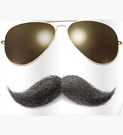 Easy Mustache Rider Poster