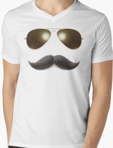 Easy Mustache Rider Mens V-Neck T-Shirt