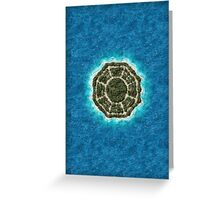 dharma island Greeting Card
