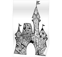 Castle Doodle Poster