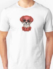 Cute Patriotic Austrian Flag Puppy Dog Unisex T-Shirt