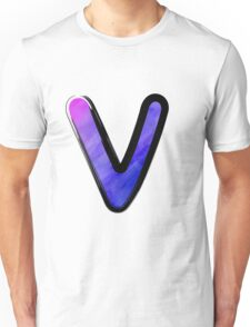 Watercolor - V - purple Unisex T-Shirt