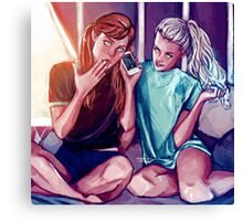 Anna and Elsa Canvas Print