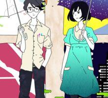 The Tatami Galaxy (Yojouhan Shinwa Taikei) - Akashi & Watashi Sticker