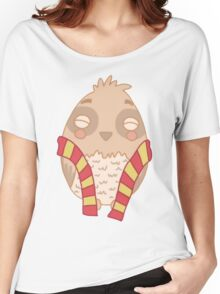 Wizard Owl - Red Women's Relaxed Fit T-Shirt