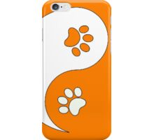 Yin and Yang - Paw Prints iPhone Case/Skin