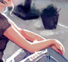 Sidewalk Girl Sticker