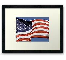 Old Glory Waves Framed Print