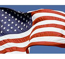 Old Glory Waves Photographic Print