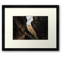 Looking Up Through The Valley Framed Print