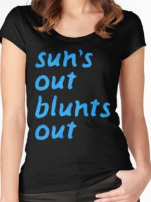 sun's out blunts out Women's Fitted Scoop T-Shirt