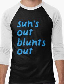 sun's out blunts out Men's Baseball ¾ T-Shirt