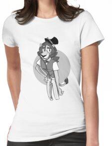 Inkblot Lion Womens Fitted T-Shirt
