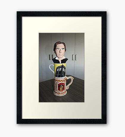 Tea cup Totem for nerds Framed Print