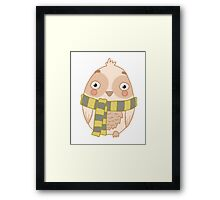 Wizard Owl - Yellow Framed Print