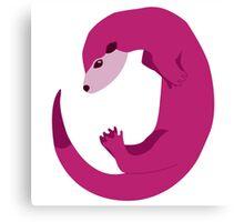 Purple Otter Swimming Canvas Print