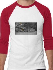 Golden Eyed Kitty Men's Baseball ¾ T-Shirt