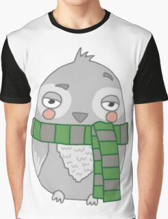 Wizard Owl - Green Graphic T-Shirt