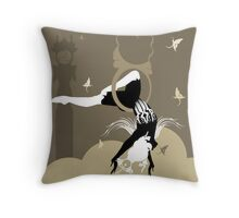 The Girl in the Hoops Throw Pillow