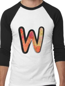 Watercolor - W - orange Men's Baseball ¾ T-Shirt