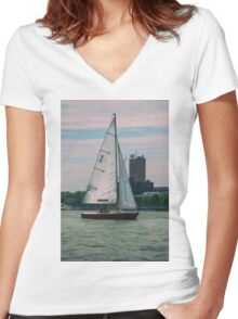A Boston View 57 Women's Fitted V-Neck T-Shirt