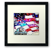 Herbie Patriot Painting Framed Print