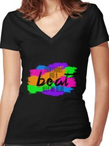 Neon Trees - Four Chords Women's Fitted V-Neck T-Shirt