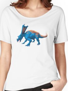 Blue Chasmosaurus Digital Painting Women's Relaxed Fit T-Shirt