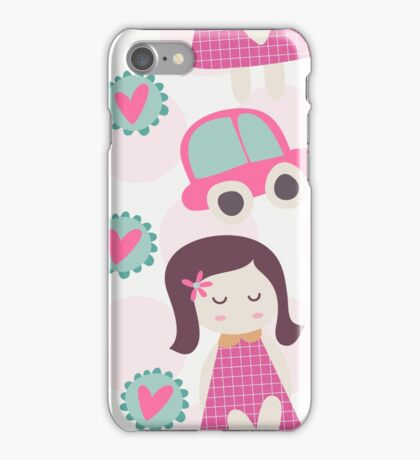 Girls, Cars, and Hearts Whimsical iPhone Case/Skin