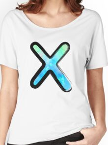 Watercolor - X - blue Women's Relaxed Fit T-Shirt