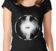 Letters fusion_momenarts Women's Fitted Scoop T-Shirt