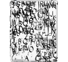 abstract typography_1 iPad Case/Skin