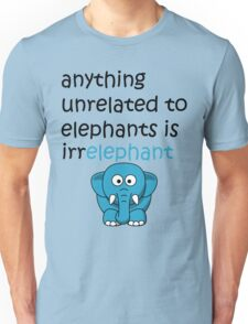 Funny Cartoon Elephant  Unisex T-Shirt