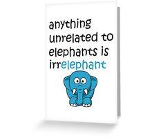 Funny Cartoon Elephant  Greeting Card