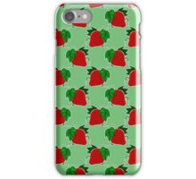 Red and Green Strawberry Pattern iPhone Case/Skin