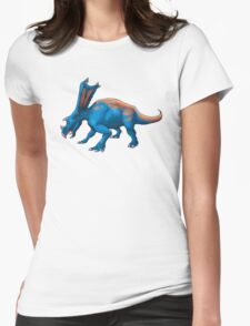 Blue Chasmosaurus Womens Fitted T-Shirt
