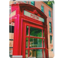 Poetry Phone Booth iPad Case/Skin