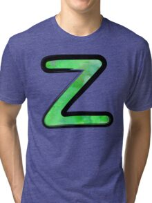 Watercolor - Z - green Tri-blend T-Shirt