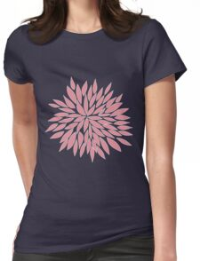 Pink Blossom Flower Womens Fitted T-Shirt