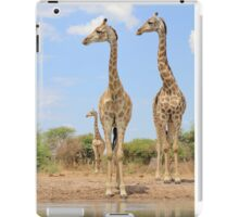 Giraffe - African Wildlife Background - Stare of Symmetry iPad Case/Skin