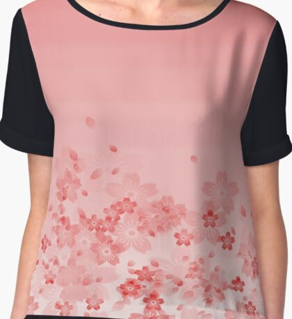 Sakura Subduction - Kiss Chiffon Top