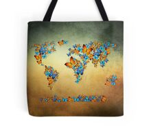 map world  Tote Bag