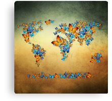 map world  Canvas Print