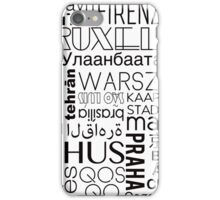 Text and the City in Black/White iPhone Case/Skin