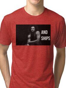 Guns and Ships Tri-blend T-Shirt