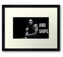 Guns and Ships Framed Print